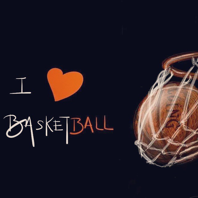Simple como eso. I love basketball.